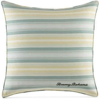"Tommy Bahama Home Cuba Cabana Stripe 18"" Square Decorative Pillow Bedding"