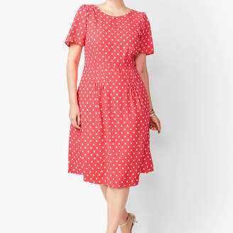 Talbots Ikat Dot Fit & Flare Dress