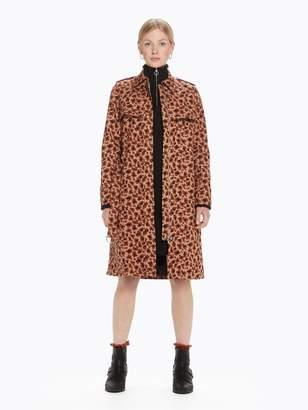 Scotch & Soda Leopard Print Trench Coat