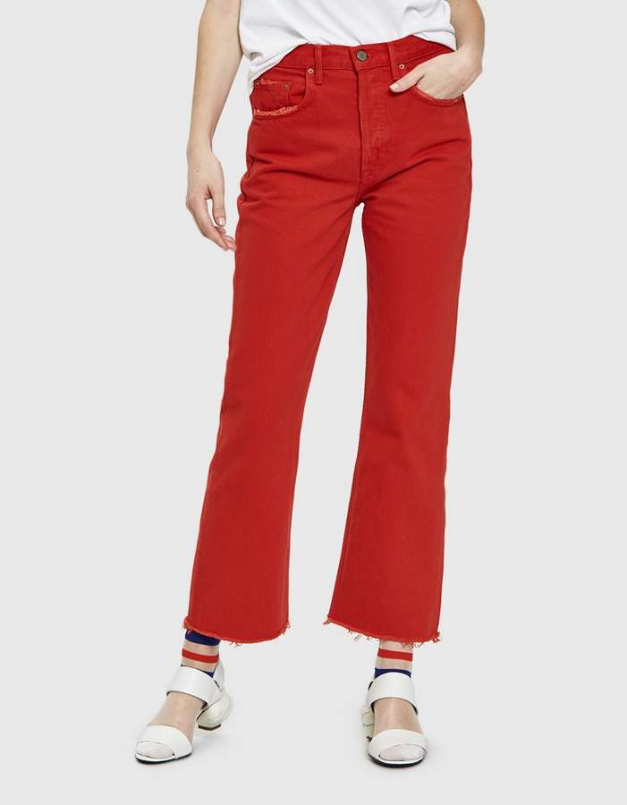 Linda High Rise Cropped Jean in Flores