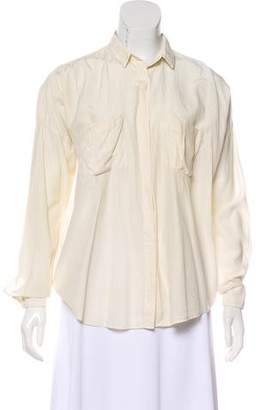Acne Studios Silk-Blend Button-Up Top