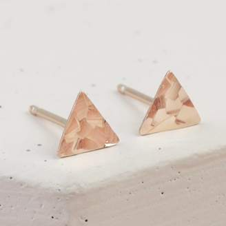 bf37a5629 Lisa Angel Sterling Silver Hammered Triangle Stud Earrings