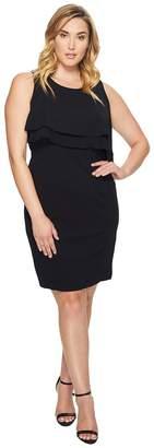 Taylor Plus Size Double Tier Bodice Stretch Crepe Women's Dress