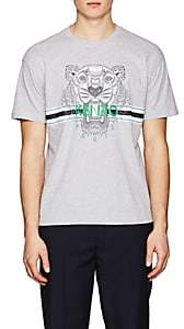 Kenzo Men's Logo-Print Cotton T-Shirt - Gray