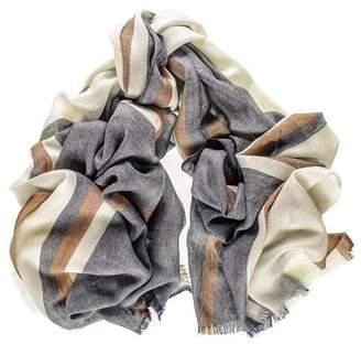 Black Knightsbridge Merino Wool and Silk Scarf