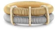 Alor Diamond, 18K Yellow Gold & Stainless Steel Layered Coil Bracelet