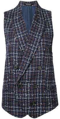 Undercover checked waistcoat