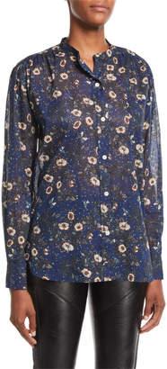 Etoile Isabel Marant Mexika Printed Button-Front Blouse