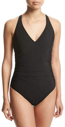 Magicsuit Trudy Solid One-Piece Swimsuit $152 thestylecure.com
