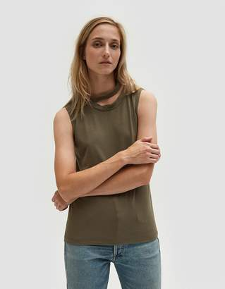 LnA Double Neckband Tank in Dusty Olive