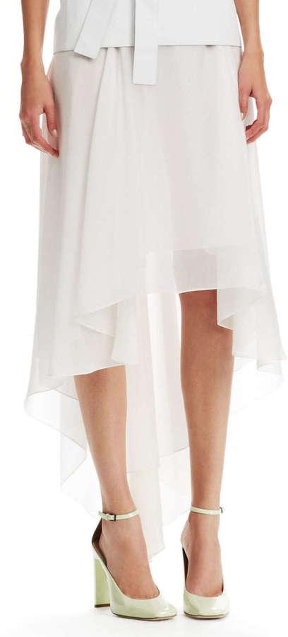 Reed Krakoff High-Low Chintz Chiffon Skirt