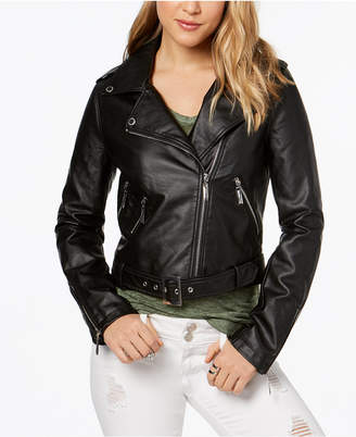Joujou Jou Jou Faux-Leather Asymmetrical Moto Jacket