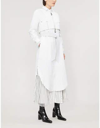 AKIKOAOKI Zip-detail cotton shirt dress