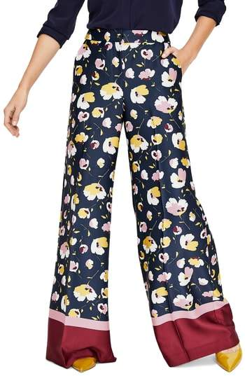 BODEN Hotch Potch Hem Wide Leg Pants