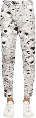 Elwood Moon Print Tapered Denim Jeans