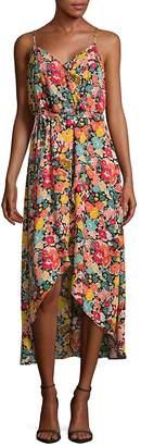 Beige by eci Women's Floral High-Low Dress