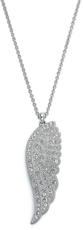 Eliot Danori Necklace, Pave Crystal Wing Pendant