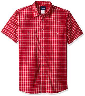 Wrangler Men's Tall Size Wrinkle Resist Short Sleeve Snap Front Shirt
