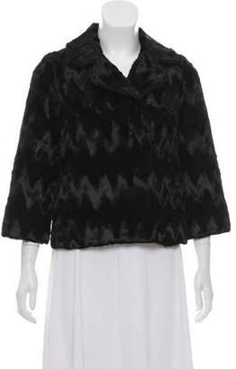 Milly Notch-Lapel Short Coat