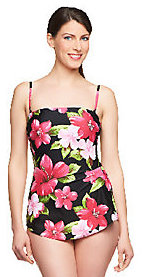 As Is Silver by Gottex Hawaiian Flower Bandea Sarong Swimsuit $29 thestylecure.com