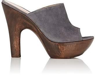 Gianvito Rossi Women's Suede Platform Mules - Dark Grey