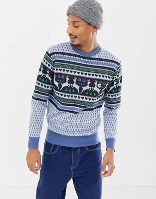 Le Breve Reindeer Holidays Sweater