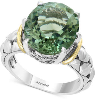 Effy Prasiolite Statement Ring (7-3/4 ct. t.w.) in Sterling Silver & 18k Gold