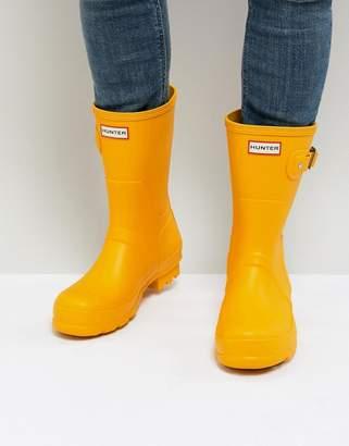 Hunter Short Wellies In Yellow