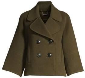 Elie Tahari Edna Double Face Wool Pea Coat