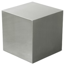 Gus* Modern Stainless Steel Cube End Table Gus* Modern