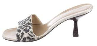 Gucci Beaded Slide Sandals
