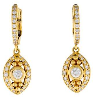 Temple St. Clair 18K Diamond Evil Eye Drop Earrings