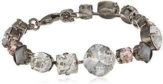 Sorrelli Womens Snow Bunny Bold Multi Shaped Crystal Bracelet