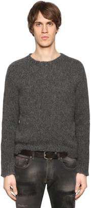 Etro Alpaca & Wool Raw Hem Knit Sweater
