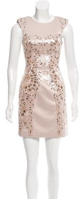Karen Millen Embellished Satin Dress $195 thestylecure.com