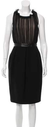 Derek Lam Pleat-Accented Wool Dress $245 thestylecure.com