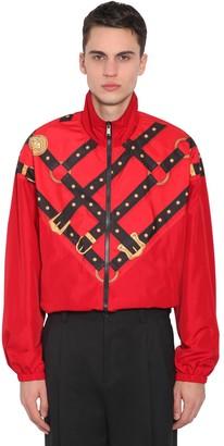 Versace Bondage Print Zip-up Techno Track Jacket