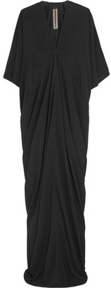 Rick Owens - Kite Draped Crepe Gown - Black $1,250 thestylecure.com