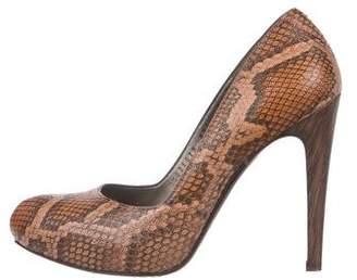 Salvatore Ferragamo Snakeskin Pointed-Toe Pumps