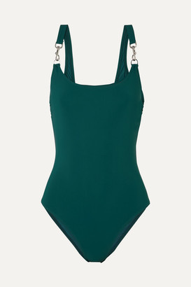 Tory Burch Clip Tank Swimsuit - Green