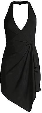 Alice + Olivia Women's Marx Draped Halter Dress