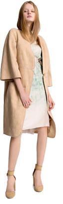 Max Studio jacquard cocoon coat