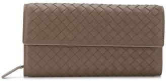 Bottega Veneta steel Intrecciato continental wallet