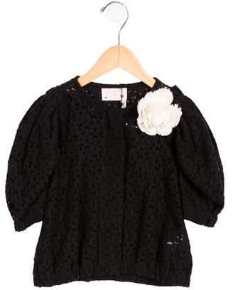 Lanvin Petite Girls' Lace Floral-Adorned Bolero