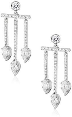 Nicole Miller Pear Chandelier Drop Earrings
