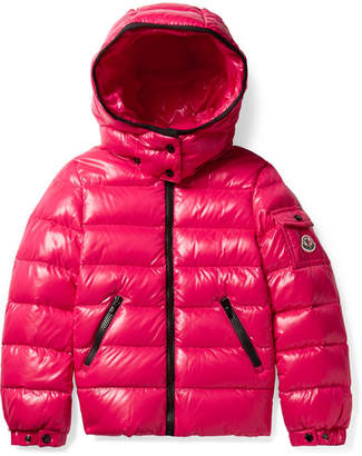 Moncler Ages 4 - 6 Bady Hooded Quilted Glossed-shell Down Jacket