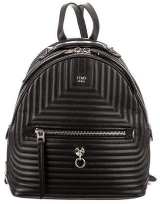 Fendi Mini Quilted Leather Backpack Black Mini Quilted Leather Backpack