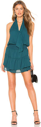 Krisa Scarf Neck Halter Mini Dress