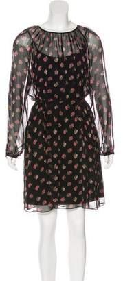 Needle & Thread Long Sleeve Floral Print Dress