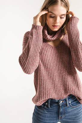 Rag Poets Danae Cowl Neck V Knit Sweater